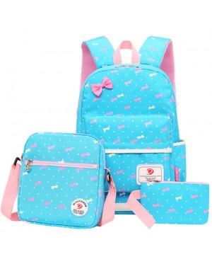 Girl Kids Primary School Ribbon Polka Dots Cute School Backpack Beg Budak Sekolah Comel Pink mc528 YJ2