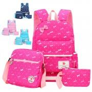 Girl Kids Primary School Ribbon Polka Dots Cute School Backpack Beg Budak Sekolah Comel Pink mc528 RE5
