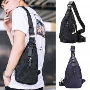 Man Camouflage Blue & Black Outgoing Active Chest Pouch Sling Bag Crossbody Beg Tepi Lelaki mc521 RC7
