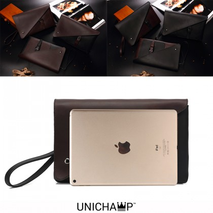[Unichamp] MC535 Man Hand Carry Large Wallet Beg Lelaki Tangan Leather Clutch Bag