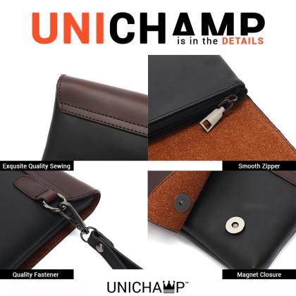 [Unichamp] MC535 Man Hand Carry Large Wallet Beg Lelaki Tangan Leather Clutch Bag