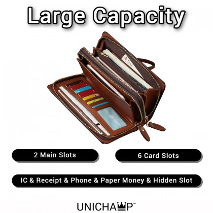 [Unichamp] MC531 Man Quality Clutch Hand Carry Wallet Beg Lelaki Clutch Dompet