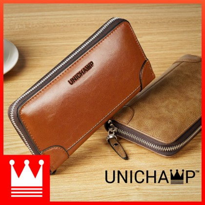 [Unichamp] MC534 Man Thin & Convenient Multi Slot Stylish Long Wallet Dompet Nipis Lelaki
