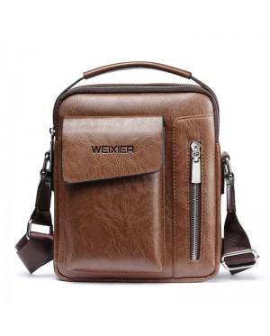 Man Extra Pocket Classic Leather Medium Sling Bag Crossbody Beg Lelaki mc543 YY2