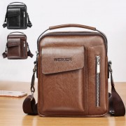 Man Extra Pocket Classic Leather Medium Sling Bag Crossbody Beg Lelaki mc543 RB7