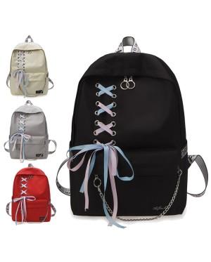 Girl College High / Secondary School Fancy Ribbon Shoelace Backpack Beg Sekolah Budak PerempuanMC537 RE3