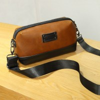 Man Classic Brown Sling Bag Beg Sling Lelaki Crossbody Messenger MC538 LD4