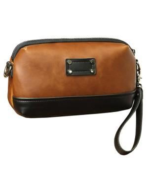 Man Classic Brown Sling Bag Beg Sling Lelaki Crossbody Messenger MC538 LD3