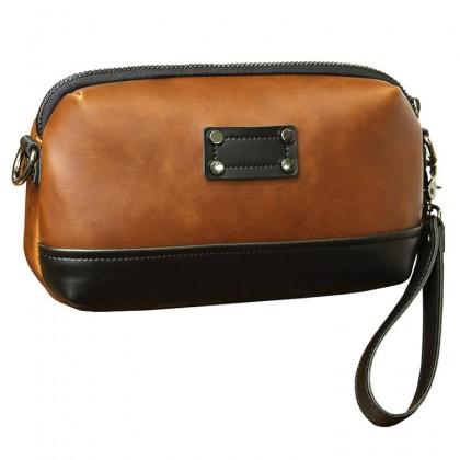 MC538 RE2 Man Classic Brown Sling Bag Beg Sling Lelaki Crossbody Messenger MSB