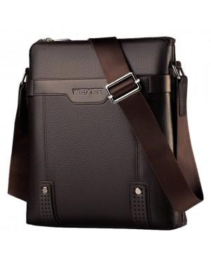 [Authenthic WEIXIER] Man Leather Elegant Sling Bag Beg Lelaki Crossbody MC542 RG1