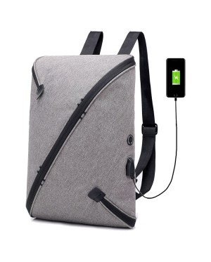 Unisex Office Laptop Box Design Backpack College School Bag City Urban Beg mc539 RE4