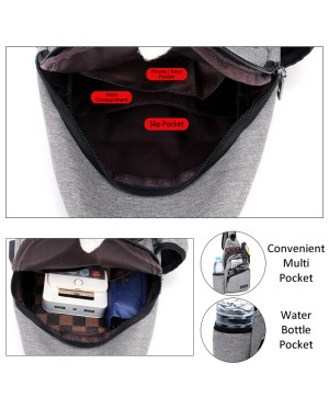 Special Design Convenient Water Bottle Sling Bag Chest Pouch Crossbody Beg Lelaki mc553 RC6
