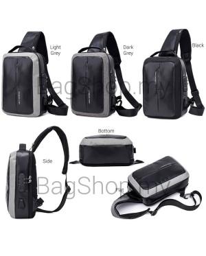 Man Nylon Chest Pouch Bag Men Crossbody Cool Stylish Sling Beg MC547 RC4