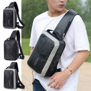 Man Nylon Chest Pouch Bag Men Crossbody Cool Stylish Sling Beg MC547 RC5