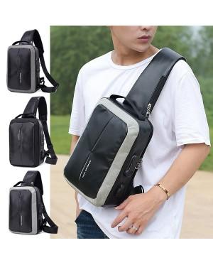 Man Nylon Chest Pouch Bag Men Crossbody Cool Stylish Sling Beg MC547 RC5