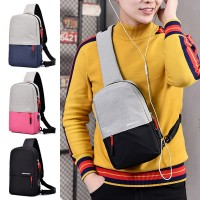 Unisex Canvas Chest Pouch Bag Crossbody Fashion Stylish Sling Beg MC546 RC7