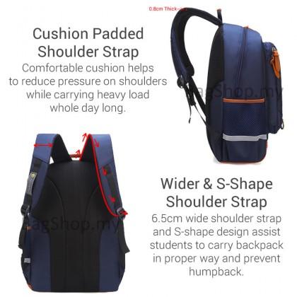 MC554 RA6 Kids Unisex Nylon Cushion Padded Comfortable Primary School Backpack ABP
