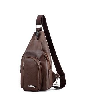 MC562 RD4 Man Leather Sling Bag Crossbody Chest Pouch Beg Lelaki Tepi