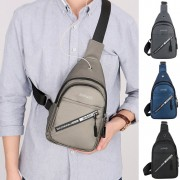 Man Stylish Nylon Chest Pouch Bag Men Crossbody Cool Elegant Beg MC561 RD2