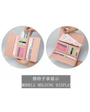 Woman Colorful Leather Long Purse Elegant Cool Design Dompet Pu N5703 RH