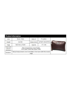 Man Classic Brown Leather Stylish Cool Clutch Bag Large Wallet MC381 LB3 MWB