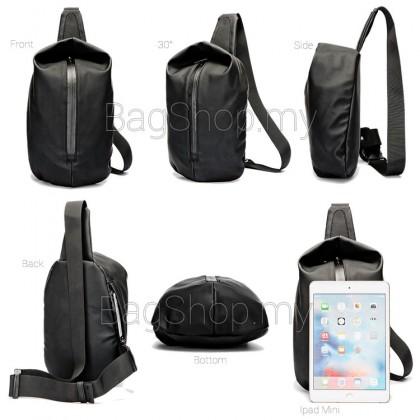 MC570 Man Black Nylon Chest Pouch Bag Men Crossbody Beg Cool Stylish Sling Bag