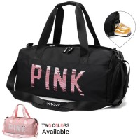 Woman PINK Design Shoe Slot Colorful Women Shoulder Sling Travel Bag MC571 RG2
