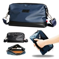 Man Black Blue Hand Carry Clutch Bag Men Stylish Sling Beg MC558 RD2