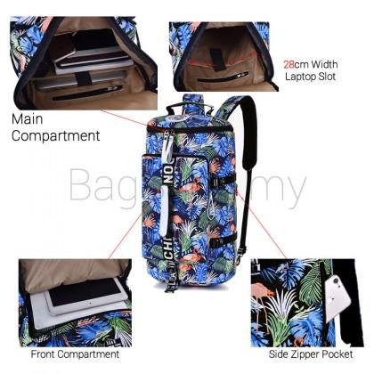 Unisex Tropical Flamingo Colorful Weekender Large Capacity Backpack MC556