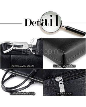 Man Formal Quality Pu Leather Office Bag Men Hand Carry Sling Beg MC569 RD5