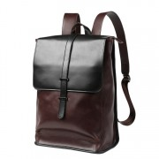 Man Classic Leather Backpack Men Cool Stylish Laptop Backpack MC572 RE6