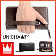 [Unichamp] MC226 Elegant Man's Hand Carry Wallet / Multi-purposes Large Quality Leather LA3Wallet LA2