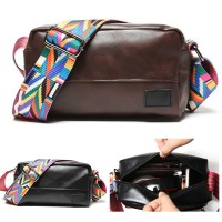 Unisex Black Coffee Stylish Sling Bag Colorful Sling Design Crossbody Beg MC573 RA4