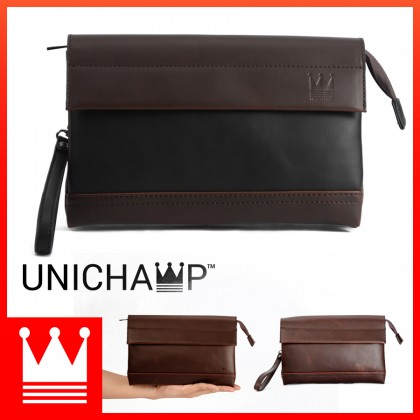 [Unichamp] MC382 Man Trending Fashion Leather Hand Carry Clutch Bag