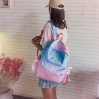 Girl Nylon Galaxy Fashion Casual Backpack College Student Bag MC579
