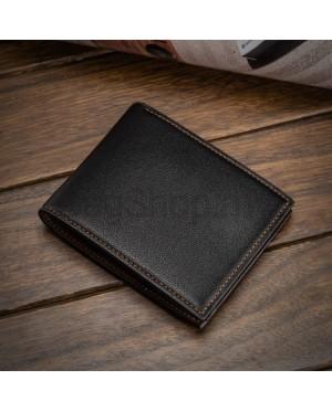 Man Black / Coffee Pu Leather Classic Short Wallet DR003 RH1