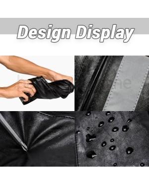 Man Black Leather Stylish Design Sling Bag Men Crossbody Beg MC590 RD7