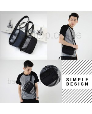 Man Black Blue Stylish Design Sling Bag Men Crossbody Beg MC591 RD3