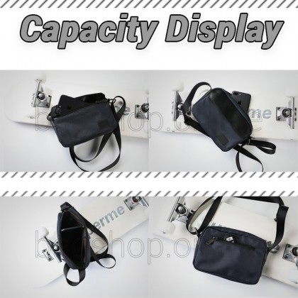 Man Black Blue Stylish Design Sling Bag Men Crossbody Beg MC591 RD3