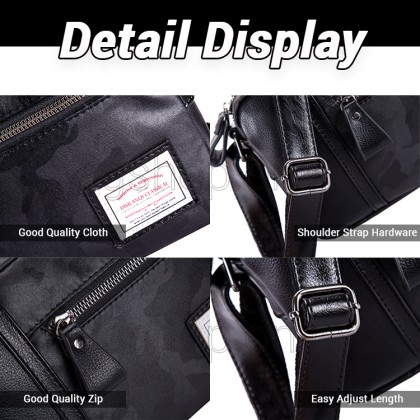 Man Black Leather Sling Bag Men Stylish Design Crossbody Beg MC592 RD3