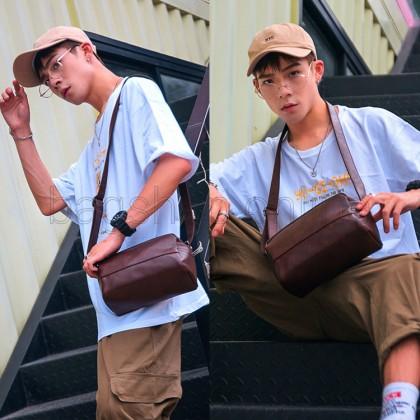 MC595 Man Elegant Leather Sling Bag Men Stylish Design Crossbody Beg