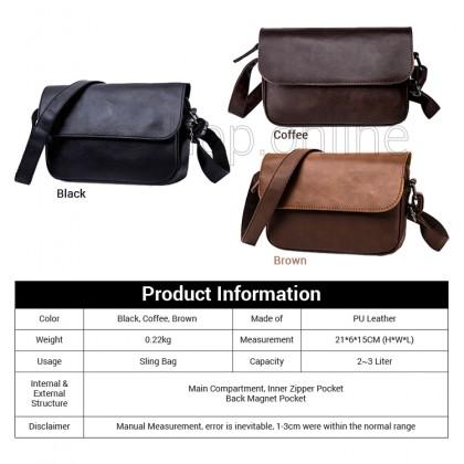 MC588 Man Classic Leather Sling Bag Men Casual Crossbody Beg