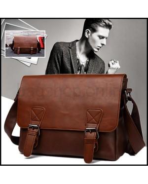 Man Classic Leather Sling Bag Men Large Cool Messenger Beg MC589 RB1