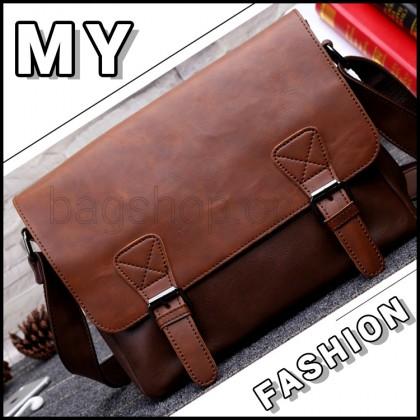 MC589 Man Classic Leather Sling Bag Men Large Cool Messenger Beg