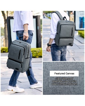 Man Canvas Large Capacity Backpack Men Stylish Laptop Backpack MC586 RD7