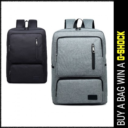 Man Canvas Large Capacity Backpack Men Stylish Laptop Backpack MC586