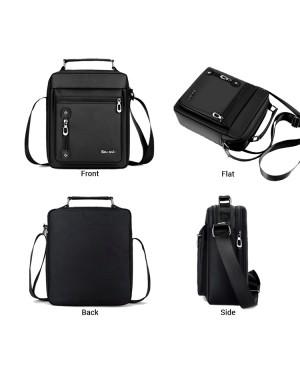 Man Black Nylon Large Sling Bag Men Stylish Cool Messenger Beg MC587 RB4