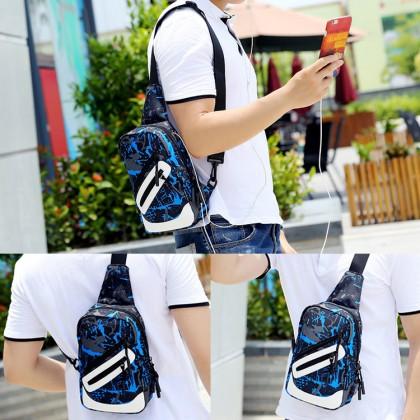 Man Canvas Chest Pouch Bag Men Cool Stylish Crossbody Beg MC596 RC4