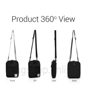 Man Black Canvas Large & Small Sling Bag Men Capacity Crossbody Beg MC597 RD4