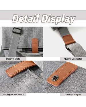 Man Nylon Dark Grey Sling Bag Men Cool Messenger Bag MC598 LA1